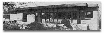 Das neue Clubhaus nach seiner Fertigstellung 1980